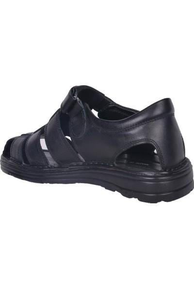 İmperial D-2019 Hakiki Deri Cırtlı Yazlık Erkek Sandalet Ayakkabı
