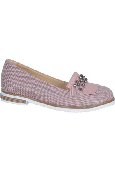Pink 4021 Pembe Günlük Kadın Babet Ayakkabı