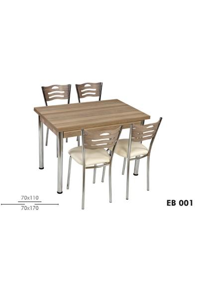 Grand Mutfak Masa Takımı Masa Ve 4 Sandalye Ceviz