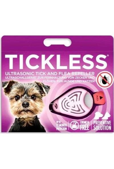 Tickless Ultrasonic Pet Kedi ve Köpek Bit, Pire Uzaklaştırıcı Aparat (Pembe)