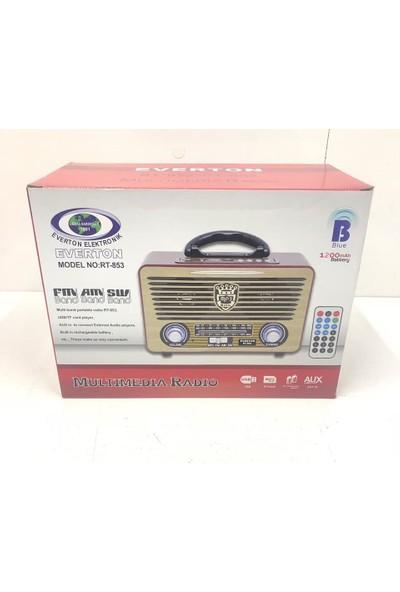 Everton Atasbey - Rt-853 Bluetoothlu Müzik Kutusu Radyo Usb Sdaux Mp3 Player