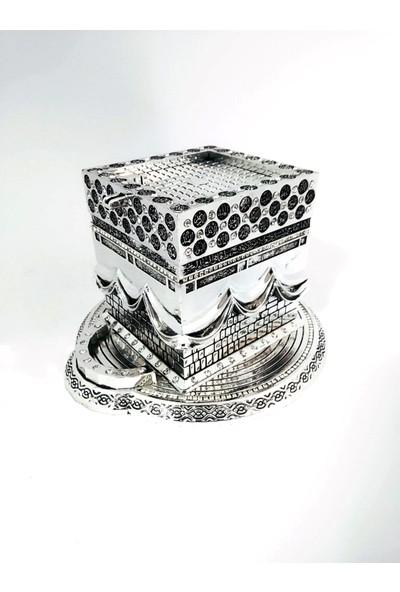Yağmur Can Küçük Kaideli Kabe Esmaül Hüsna Biblo Gümüş 3 Boyutlu