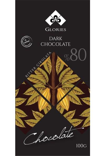 Glories %80 Bitter El Yapımı Çikolata 100 gr