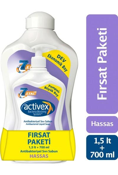 Activex Antibakteriyel Sıvı Sabun Hassas 1.5 lt & 700 ml Fırsat Paketi