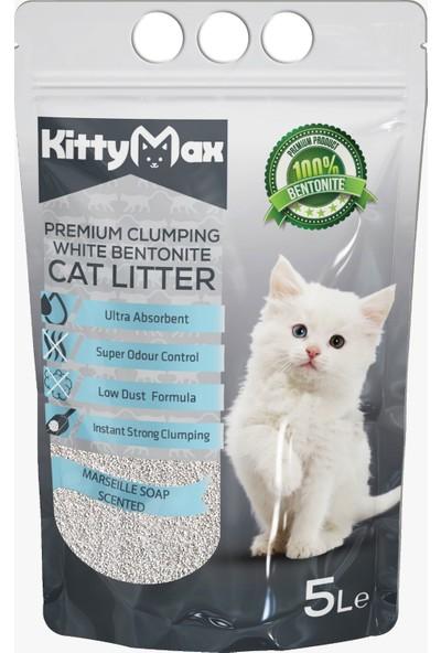 KittyMax 5 Litre Marsilya Sabunu Kokulu Bentonit Kedi Kumu