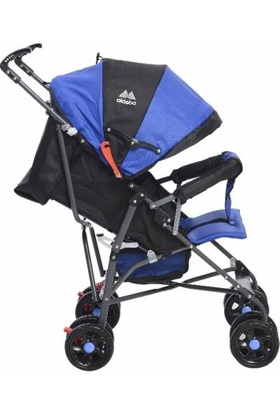 Aldeba 3018 Tam Yatarlı Baston Bebek Arabası Mavi
