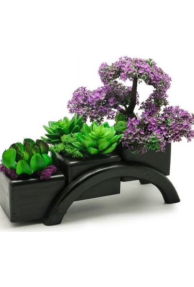 Çiçek mi Lazım Yapay Mor Bonsai Bahçesi