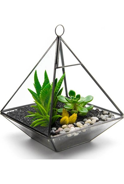Çiçek mi Lazım Yapay Teraryum Piramit