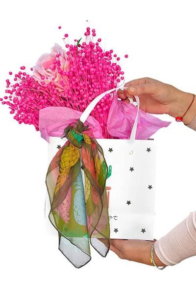 Çiçek mi Lazım Kuru çiçek tasarımı Pembe