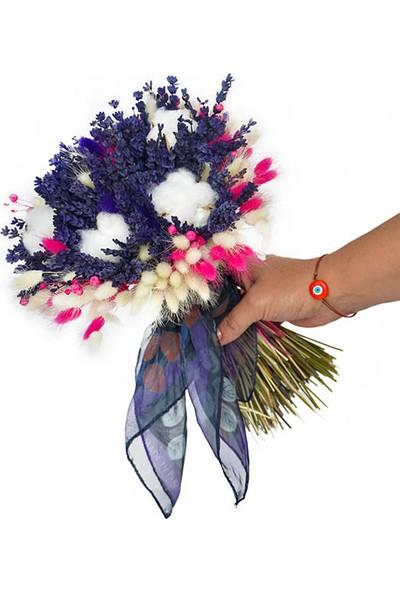 Çiçek mi Lazım Kuru Lavanta Gelin Buketi