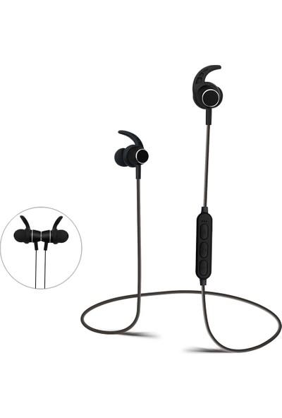 Case 4U Bluetooth Mikrofonlu Mp3 Micro SD Kart Destekli Spor Kulaklık - K04 - Siyah