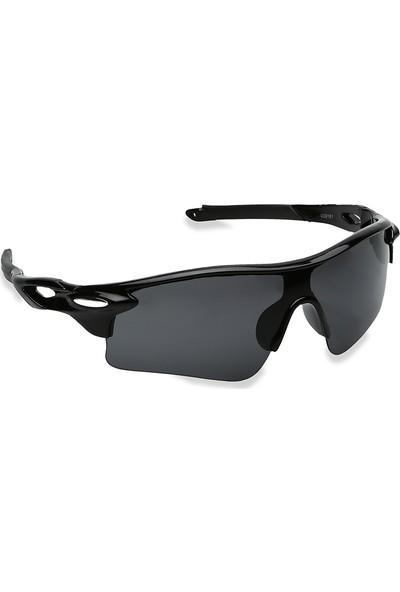 Jwl Siyah Uv400 Modern Çerçeve Bisiklet Outdoor Erkek Güneş Gözlüğü