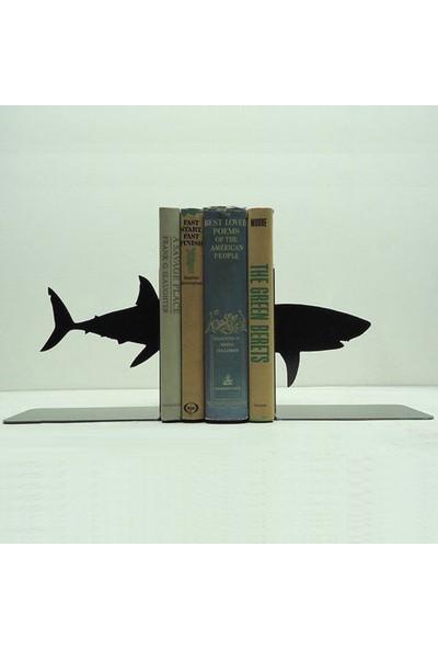 Simge Yapı Dekorasyon Köpekbalığı Figürlü Dekoratif Kitap Tutucu