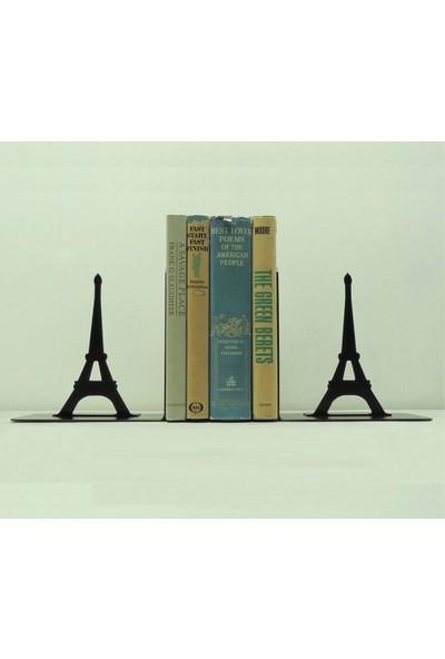 Simge Yapı Dekorasyon Eyfel Kulesi Figürlü Dekoratif Metal Kitap Tutucu