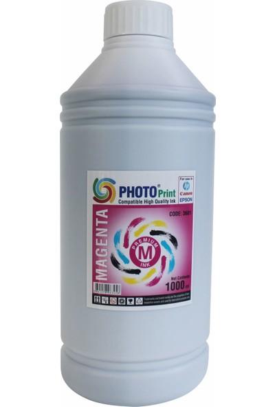 Photo Print Canon G1400 - G2400 - G3400- Gı 490 Yazıcılar İçin Uyumlu 1000 Ml Kırmızı Mürekkep