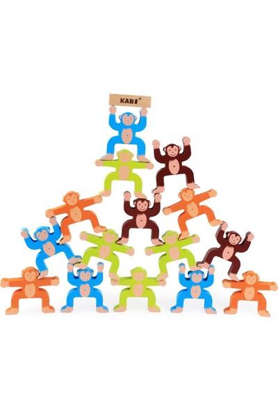 Piramigo Ahşap Maymun Denge Oyunu Dikkat Gelişimi Denge Blokları 3D Monkey Balance Game
