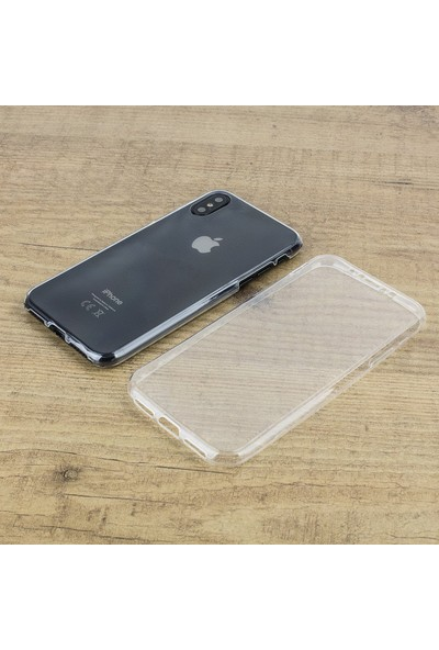 Microsonic Apple iPhone XS Max (6.5'') Kılıf 6 tarafı tam full koruma 360 Clear Soft Şeffaf