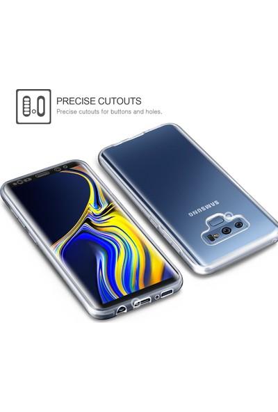 Microsonic Samsung Galaxy Note 9 Kılıf 6 tarafı tam full koruma 360 Clear Soft Şeffaf