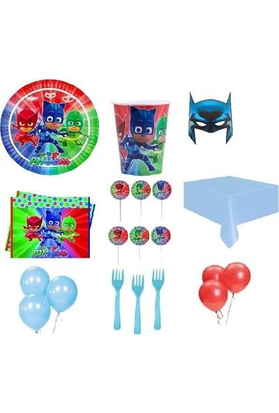 Partici Pijamaskeliler Pj Masks Lisanslı Parti Sunum Seti 24 Kişilik
