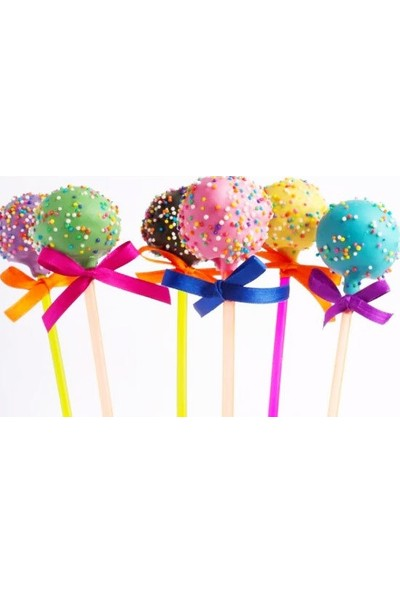 Pasta Cumhuriyeti Lolipop Kek Cake Pop Çubukları Beyaz 20li