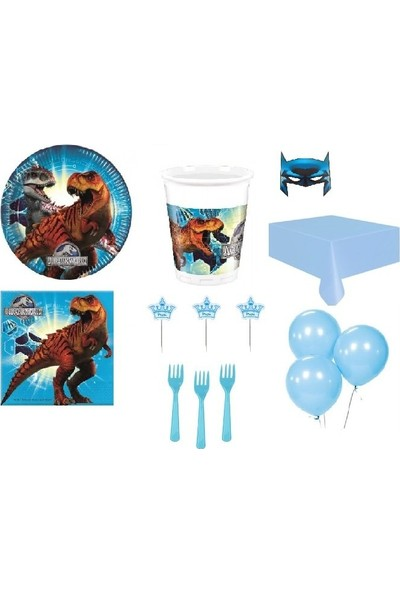 Partici Jurassic World (Dinazorlar) Lisanslı Parti Sunum Seti 32 Kişilik
