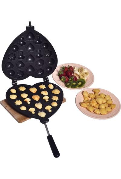 Mas Mutfak Ceviz Kurabiye Kalıbı Yeni Tasarım - 20 Bölmeli