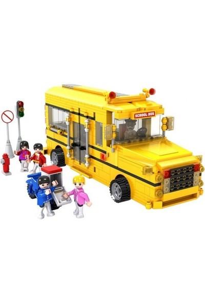 Cogo City Okul Otobüsü 576 Parça Yapı Oyuncağı - 4111