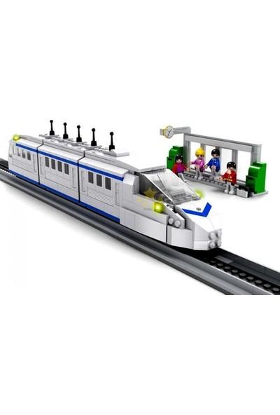 Cogo City Yüksek Hızlı Yolcu Treni 558 Parça Yapı Oyuncağı - 4110