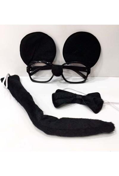 Samur Mickey Mouse Gözlüğü Papyonu Kuyruğu Seti
