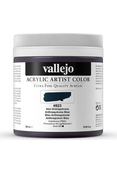 Vallejo Artıst Akrilik Boya 500Ml S6 823 Anthraquınone Blue