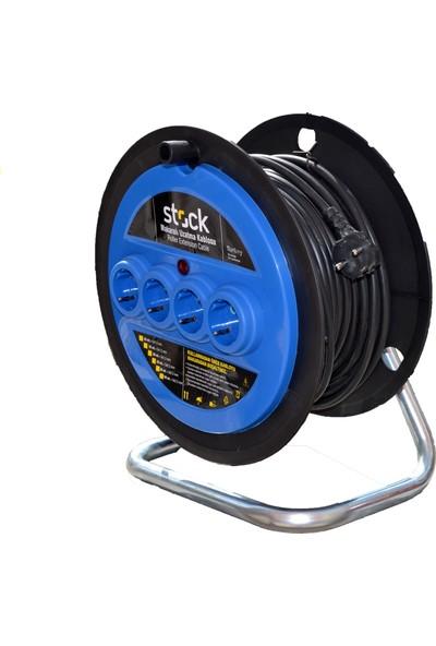 Stock Makaralı Kablo 3X2,5 30 Metre (Yerli Üretim)