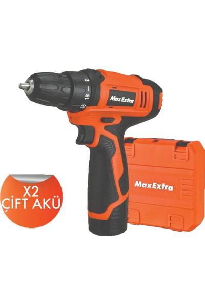 Max Extra Mx1213 Çift Akülü Matkap