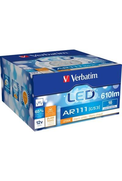 Verbatim 52018 Ar111 G53 16W 12Vac/Dc 2700K Ww 610Lm Led Ampul