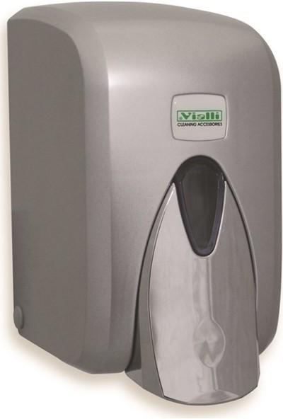 Vialli Sıvı Sabun Dispenseri Aparatı Hazneli Krom 500 Ml Vialli S5C