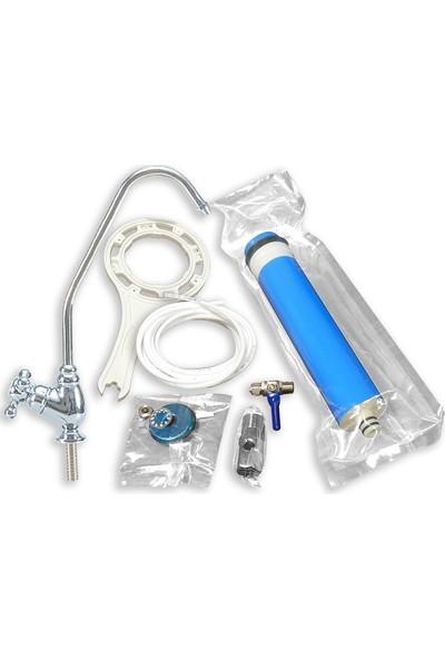Aqualine Açık Kasa 5 Aşamalı Pompasız Su Arıtma Cihazı (Lg Membranlı)