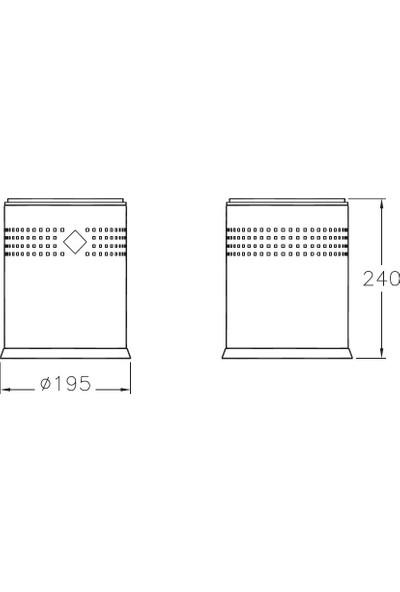 Artema Arkitekta A44048 Çöp Kovası Krom (3 Litre)