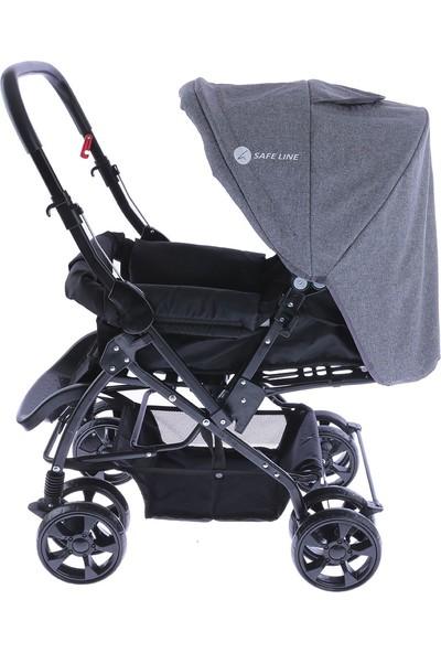 Safeline Quick Step Çift Yönlü Bebek Arabası Gri