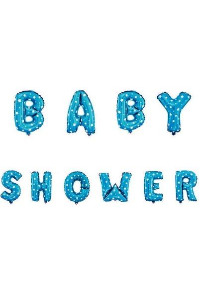 Niloya Baby Shower Folyo Balon 40 Cm Mavi
