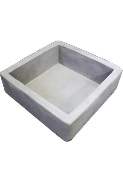 Greenmall Kare Beton Saksı - 10 cm