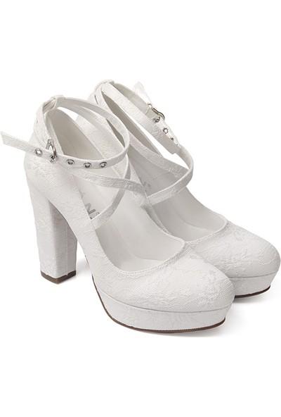 Gön Kadın Gelinlik Ayakkabı 45607