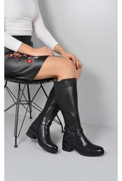 Gön Deri Kadın Çizme 63575