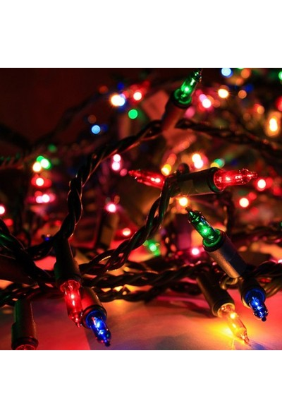 Can Yılbaşı Ağacı İçin Uzun Ampüllü Renkli Işık 6 Metre ( 50 Ampül)
