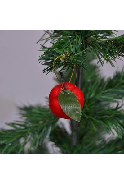 Can Yeni yıl 12li Elma Şeklinde Yılbaşı Ağacı Süsü