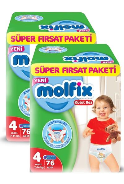 Molfix Pants Külot Bez Süper Fırsat Paket Maxi 4 Beden 76x2 152 Adet