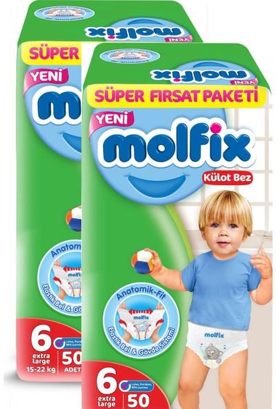 Molfix Pants Külot Bez Süper Fırsat Paket Extra Large 6 Beden 50x2 100 Adet