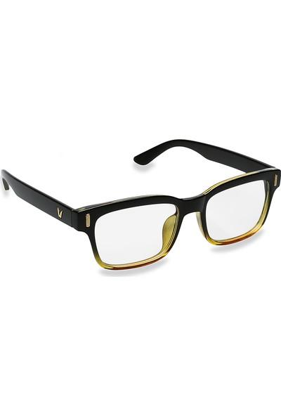 Jwl Bilgisayar Ekran Göz Koruma Erkek Tarz Gözlüğü Kahve Siyah