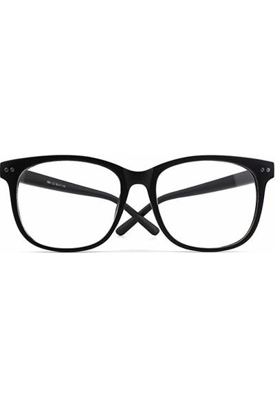 Jwl Büyük Çerçeve Siyah Unisex Yıldız Detaylı Gözlük