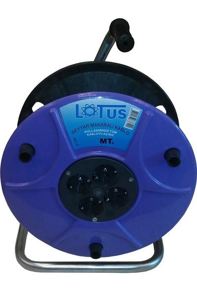 Lotus 3x1,5 Seyyar Kablo Makarası 50 Metre