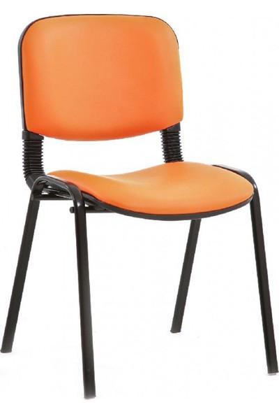 Coşkun Büro/27 Turuncu-Deri Form Sandalye
