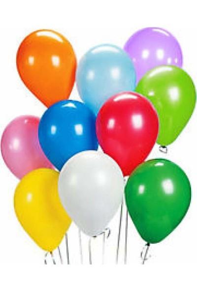 KBK Market 25 Adet Metalik Lateks Balon Karışık Renk
